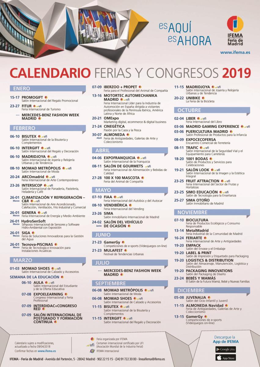 Calendario Ifema 2019