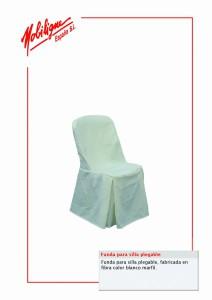 170.Funda para silla blanca cat
