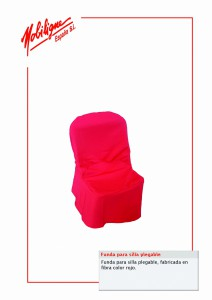 171.Funda para silla catering roja cat